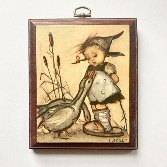 Vintage Hummel Girl Decor- Mini Frame